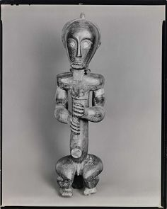 Ancestor figure. Wood. Southern French Cameroons, Border of Gabon, from the series African Sculpture ARTIST: Walker Evans,