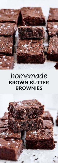 Brownie Recipes, Chocolate Recipes, Cookie Recipes, Basic Butter Cookies Recipe, Chocolate No Bake Cookies, Best Brownies, Brownie Bar, Brown Butter, Fun Desserts