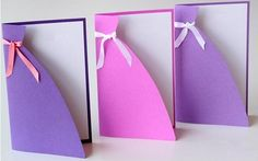 Birthday card dresses for girls - Gifts for Women Diy And Crafts, Paper Crafts, Birthday Woman, Handmade Birthday Cards, Girl Gifts, Ultra Violet, Gifts For Women, Girls Dresses, Gift Wrapping