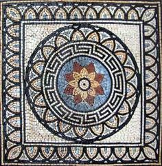 Modern Mosaic Square Accent - Krokos for sale online Mosaic Diy, Mosaic Crafts, Mosaic Projects, Marble Mosaic, Stone Mosaic, Mosaic Glass, Mosaic Tiles, Mosaic Mirrors, Mosaic Wall