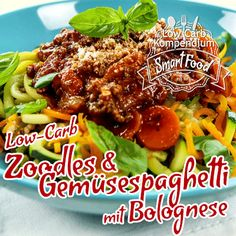 Low-Carb Zoodles - Zucchini Spaghetti & Gemüsespaghetti mit Bolognese in 10 Sekunden
