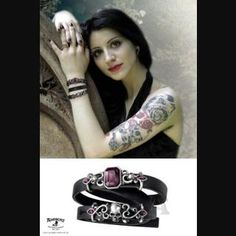 534f710535f Pirate Princess Leather Strap Bracelet by Alchemy Gothic Pirate Jewelry