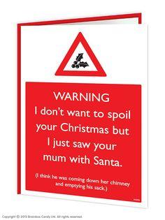 brainboxcandy.com - Mum With Santa Christmas Card, £2.50 (http://www.brainboxcandy.com/mum-with-santa-christmas-card/)
