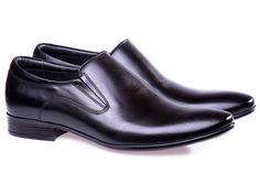 Black leather men shoes!