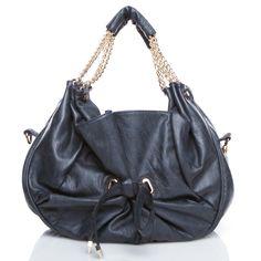 Ensley- luxe faux-leather shoulder bag