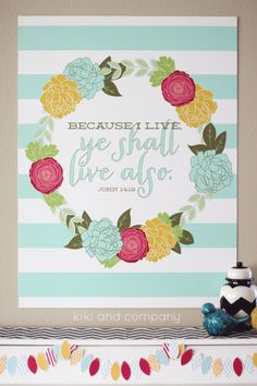 I love this new Easter Print at kiki and company. 6 colors and 5 sizes to choose from!