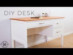 DIY Desks for Your Home Office Simple DIY desk with drawers Related posts: Creative diy Desk Designs Ideas for Office & Home Home Office, Diy Office Desk, Diy Desk, Diy Wood Desk, Diy Organizer, Desk Organization Diy, Diy Drawers, Desk With Drawers, Diy Crafts Desk