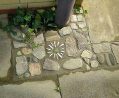 Steinmosaik-Bodenfliese -Gartengestaltung
