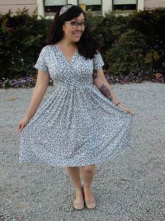 Wren dress. Pattern by Colette Patterns, sewn by me!