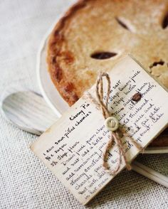 cherry pie...with recipe attached