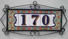 We sell spanish ceramic house numbers. You can choose the numbers or letters that you need to form the phrase or the desired number. Ceramic House Numbers, Tile House Numbers, House Number Plaque, House Tiles, Spanish Style Decor, Spanish Style Homes, Spanish House, Mediterranean House Numbers, Spanish Tile