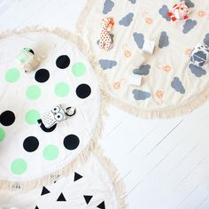 We got the cloud and triangle with added padding - CUSTOM Made Hand Printed Play Mat Nursery Floor Rug by BabeeandMe