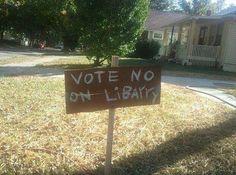 Vote NO on libarry?