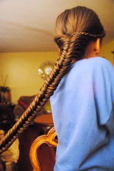 long long hair hair love her hair French roll twist Love Hair, Gorgeous Hair, Beautiful Fish, Beautiful Lengths, Pretty Hairstyles, Girl Hairstyles, Style Hairstyle, Wedding Hairstyles, Fishtail Braid Hairstyles