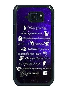 Disney Lessons Learned Mash Up Phone Case Fit For Samsung Galaxy S6 Active,Beautiful Black Case