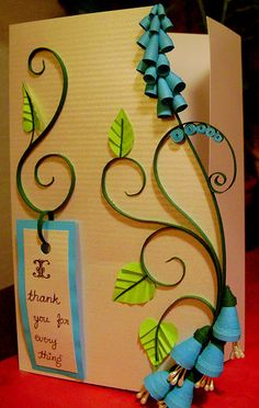 3D quilled card