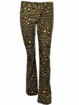 LAUNDRY by Shelli Segal Women's Animal Print Pants Misses 4
