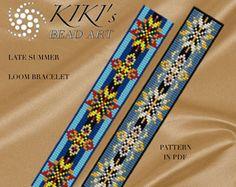 Bead loom pattern - Late summer - LOOM bracelet pattern in PDF - instant download
