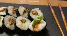 tempura sushi #oystermushroom #vegan #sushi