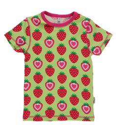 T-Shirt mit Erdbeeren in grün