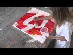Acryl Abstrakt | Strukturen - structures - acrylic painting abstract - YouTube