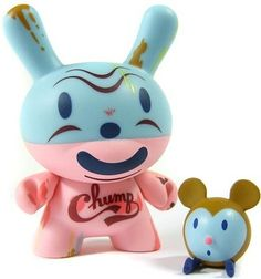 Chump Dunny - Gary Taxali figure by Gary Taxali, produced by Kidrobot. Front view.