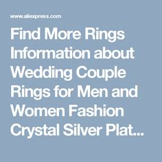 Find More Rings Information about Wedding Couple Rings for Men and Women Fashion Crystal Silver Plated Jewelry Ring Kroean Style Love CZ Diamond Anillos J258,High Quality ring compresser,China ring channel Suppliers, Cheap ring audi from Almei Jewelry Store on Aliexpress.com