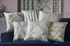 Austen fabric collection Roman Blinds, Curtains, Throw Pillows, Elegant, Bed, Fabric, Prints, Pattern, Collection