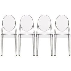 Shop for 2xhome -Set of 4, Standard Size - Clear Plastic Dining Chairs Modern. Get free shipping at Overstock.com - Your Online Furniture Outlet Store! Get 5% in rewards with Club O! - 24626618