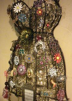 Brooch Dress Form