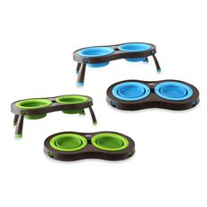 Small collapsible travel food & water bowls. >> Perfect for the adventurous pet!