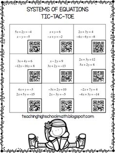 Blog Post about using QR Codes to Play Tic-Tac-Toe by Teaching High School Math!