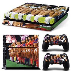 FriendlyTomato PS4 Console and DualShock 4 Controller Skin Set  Sexy Girls Soccer  PlayStation 4 Vinyl * Continue to the product at the image link.Note:It is affiliate link to Amazon.