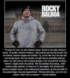 Rocy wie co mowi Rocky Balboa, Men Sweater, Motivation, Sayings, Quotes, Blog, Random, Quotations, Lyrics