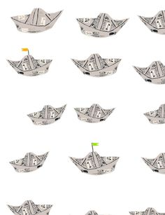 Curious George Boats (Makes them in Curious George Rides a Bike) - Would be a fun activity for a birthday party.