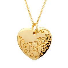 Hochwertige Silberkette aus 925 Sterling Silber vergoldet mit Herzanhänger. Die Silberkette ist nickelfrei. Die Kette ist dank einer integrierten Verlängerungskette von 39cm bis 44cm verstellbar.