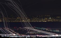 Airport by night, fascinating !
