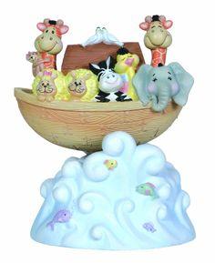 Amazon.com - Precious Moments Rocking Noah's Ark Musical Figurine - Collectible Figurines