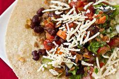 Mexican Vegan Burritos (lentil-walnut taco meat)