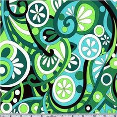 Michael Miller Bold Primary Mod Swirls Kelly  Item Number: BO-226  Our Price: $8.98 per Yard
