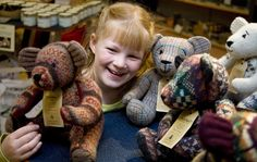 Burra bears are made from pure shetland wool long famed for its
