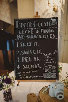 Polaroid Picture Guest Book Station   Intimate Anglers Rest Pub Wedding Reception   Antonija Nekic Photography