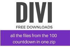 All the 100 Divi downloads in one zip