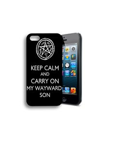 Keep Calm and Carry On Supernatural iPhone 4/4s or 5 Case on Etsy, $10.99