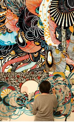 yellena james This type of art would look great in an urban setting. colors and intricate Check out this collection of amazing art & creativity! Inspiration Art, Art Inspo, Creative Inspiration, Yellena James, Street Art, Frida Art, Posca Art, Art Et Illustration, Animal Illustrations