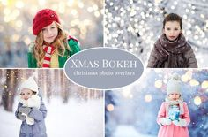 Christmas Bokeh photo overlays by BrownLeopard on @creativemarket