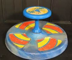 Sit 'n Spin is a popular toy of the 1970s and 1980s. Introduced by Kenner Toys (later bought by Hasbro) in Cincinnati, Ohio, it was invented by Jacob W Burkart Sr and John F Mayer in 1973 in Kenner's engineering department.