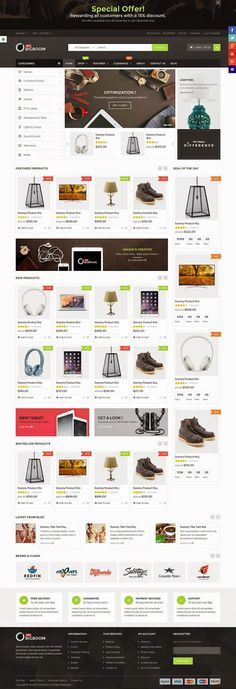 Bigboom Simple and Clean Multipurpose Responsive Magento Themes 2015 #online #shop #webdesign
