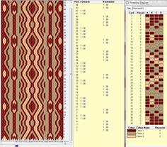 Diseño 38 tarjetas, 3 colores, repite dibujo cada 12 movimientos   // Band33 ༺❁