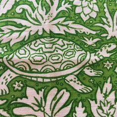 How cute is this Pantone Greenery  on this vintage linen cotton blend remnant? Would make super cute pillow!